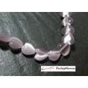 10 perles Oeil de chat forme coeur parme clair 8mm 2Z5107 perles pour création de bijoux