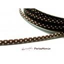 50 cm ruban biais  pois 7mm ref FF4046 collection 27 marron mercerie pour bijoux
