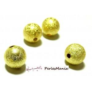 10 perles intercalaires P225 stardust 8mm DORE pour création de collier
