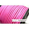2m de cordon en suédine aspect daim  Rose fushia PR014 qualité