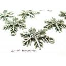 10 pendentifs flocons de neige Viel argent  P3264 pour création de bijoux