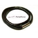 1 collier simili cuir epais 5mm marron fermoirs aimantés PH004 pour création de bijoux