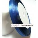 1 rouleau de 22 mètres ruban satin Bleu Nuit 6mm PY028