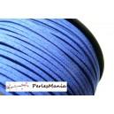 10m de cordon en suédine aspect daim  Bleu électrique PG0146 qualité