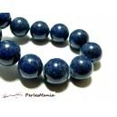 10 perles  jade teintée 6mm bleu lapis lazuli PXS09 accessoire bijoux