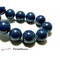 5 perles  jade teintée 12mm bleu lapis lazuli PXS09 accessoire bijoux