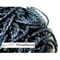 Apprêt bijoux: 10 m fil tressé simili cuir  bleu nuit P5014 diamètre 3mm