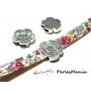 10 Magnifiques slides passants triple fleur  P124718 Fournitures pour création de bijoux