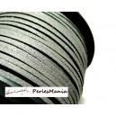 2m de cordon en suédine aspect daim  Gris PG0012 qualité