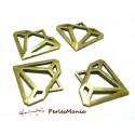 Accessoires pour bijoux: 5 pendentifs diamants 2B8936 Bronze