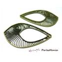 Accessoires pour bijoux: 2 magnifiques pendentifs goutte art Nouveau 2Y8309 Bronze