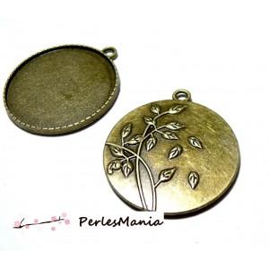 Accessoires pour bijoux: 1 magnifique pendentif Buccolique ref246 Bronze