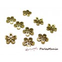 50 coupelles calottes caps fleur P1438Y Vieil Or accessoire pour bijoux