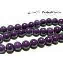 1 fil d'environ 98 perles jade teintée 4mm violet PXS11 accessoire pour bijoux