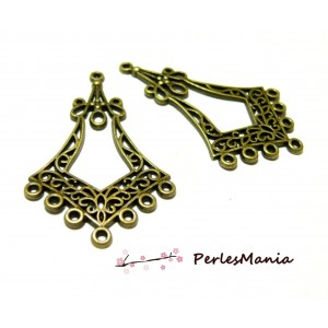 10 pendentifs multiconnecteurs art nouveau P070Y breloques pour bijoux