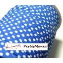 1 m ruban biais spaghetti à pois Bleu 7mm ref: 70480-28 mercerie cordon pour bijoux