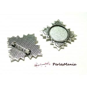 1 pendentif broche fleur d'été ref 208 Vieil Argent accessoire pour bijoux