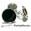 2 bagues double qualité 12mm  Argent platine  pour création de bijoux