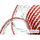 1 m ruban biais dentelle grigri rouge 12mm coluer 2106 mercerie pour création de bijoux