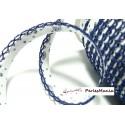 1 m ruban biais dentelle grigri Bleu 12mm coluer 2106 mercerie pour création de bijoux