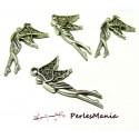 10 pendentifs la belle fée 2W2913 viel argent breloques pour création de bijoux