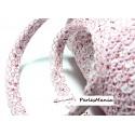 1 m ruban biais dentelle Fruity Rose 12mm couleur 2827 mercerie pour création de bijoux