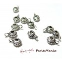 20 bélières picots 2A1422 Vieil argent fournitures pour creation de bijoux