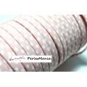 1 m ruban biais spaghetti à pois rose pale 10mm ref 70480- 31 mercerie cordon pour bijoux