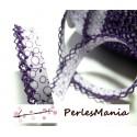 1 m ruban biais dentelle Fruity Violet 12mm couleur 2826 mercerie pour création de bijoux
