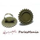 10 bagues ARTY P3608 qualité  20mm BRONZE  materiel pour création de bijoux