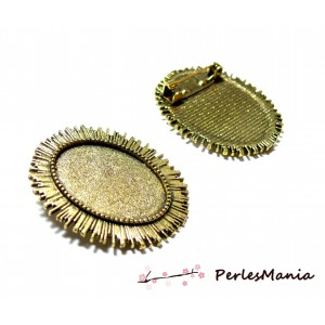 Apprêt bijoux 1 pendentif broche multi fonction le roi soleil ref228 Vieil OR