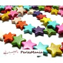 1 fil environ: 20 Perles synthetique EN HOWLITE MULTICOLORES 21x20mm