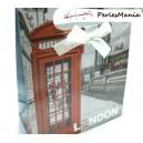 5 SAC CADEAU en papier avec Noeuds LONDON 165x125mm