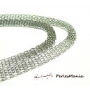 1 mètre Magnifique Chaine  ref PN10Y argent platine multi maille