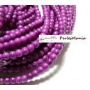 1 fil d'environ 110 perles ronde 4mm Howlite P02O violet flashy pour création et scrapbooking