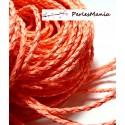 Apprêt bijoux: 10 m fil tressé simili cuir Rose bonbon P5065 diamètre 3mm
