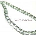5 mètre PK16317 grosse Chaine maille Argent platine pour collier
