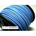 10 mètre de cordon en suédine aspect daim Bleu indigo PG0030Y qualité