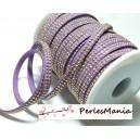 3m ruban cordon de suédine cloutée doré aspect Daim double rangée facettée Violet parme P00411