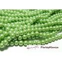 30 perles de verre nacré VERT PISTACHE 8mm 2O5505 fournitures pour bijoux