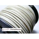 10m de cordon en suédine aspect cuir Crème PG01515 qualité