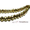 1 fil d'environ 96 perles facettées rondelles DORE 4 par 6mm ref 2J1110