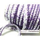1 m ruban biais dentelle Fleur violette 12mm ref 71676 couleur 2827