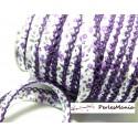 1 m ruban biais dentelle Fleur violette 12mm ref 71676 couleur 2817
