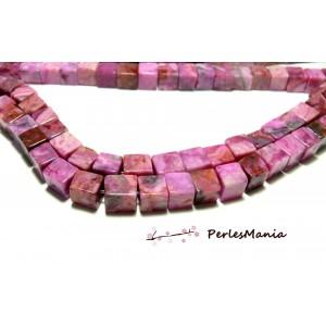 10 perles Sugilite cubes 8mm ROSE pour création de bijoux