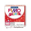 1 PAIN PATE FIMO KIDS ROUGE A PAILLETTE 42gr REF 8030-212