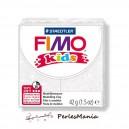 1 PAIN PATE FIMO KIDS BLANC A PAILLETTE 42gr  REF 8030-052