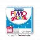 1 PAIN PATE FIMO KIDS BLEU A PAILLETTE 42gr  REF 8030-312