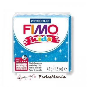 PAIN PATE FIMO KIDS BLEU A PAILLETTE 42gr REF 8030-312