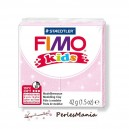 1 PAIN PATE FIMO KIDS ROSE PALE A PAILLETTE 42gr  REF 8030-206